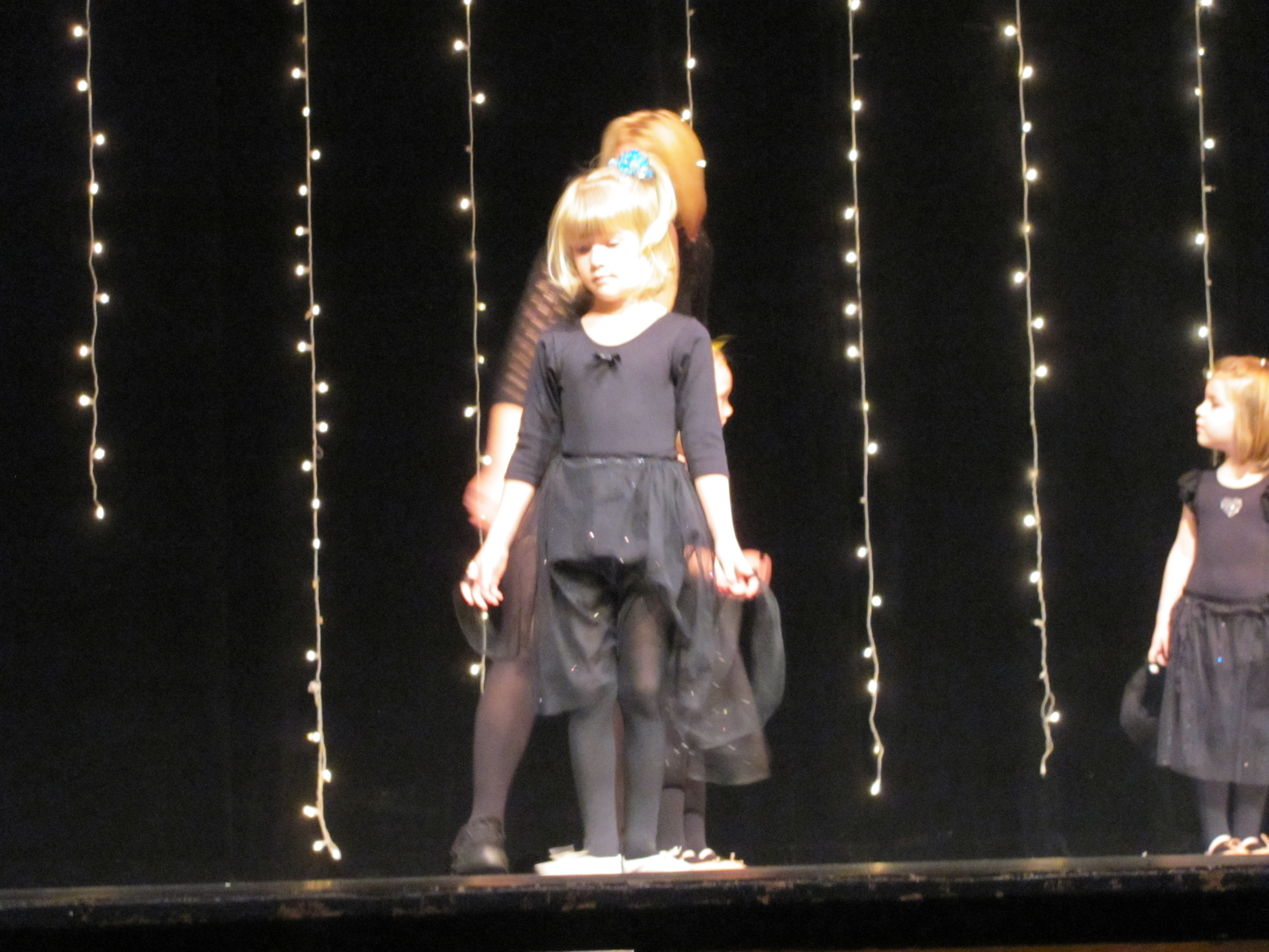 Claire's ballet recital--on a stage! (she was SO excited about this!)