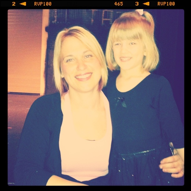 Claire and her beloved ballet teacher, Miss Annie