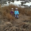 "At Whitefish Point area the girls were delighted to find ""a nest""..."
